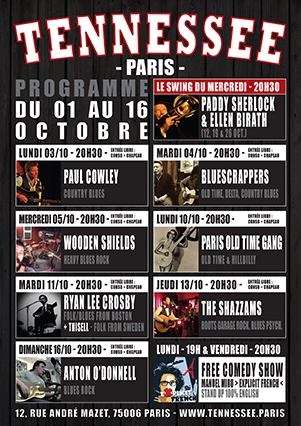 concerts poster Tennessee Paris