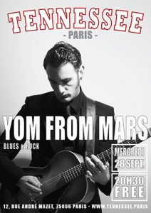 concert Yom From Mars poster Tennessee Paris