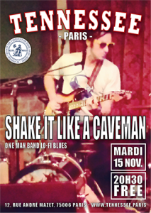 concert Shake it Like a Caveman poster Tennessee Paris